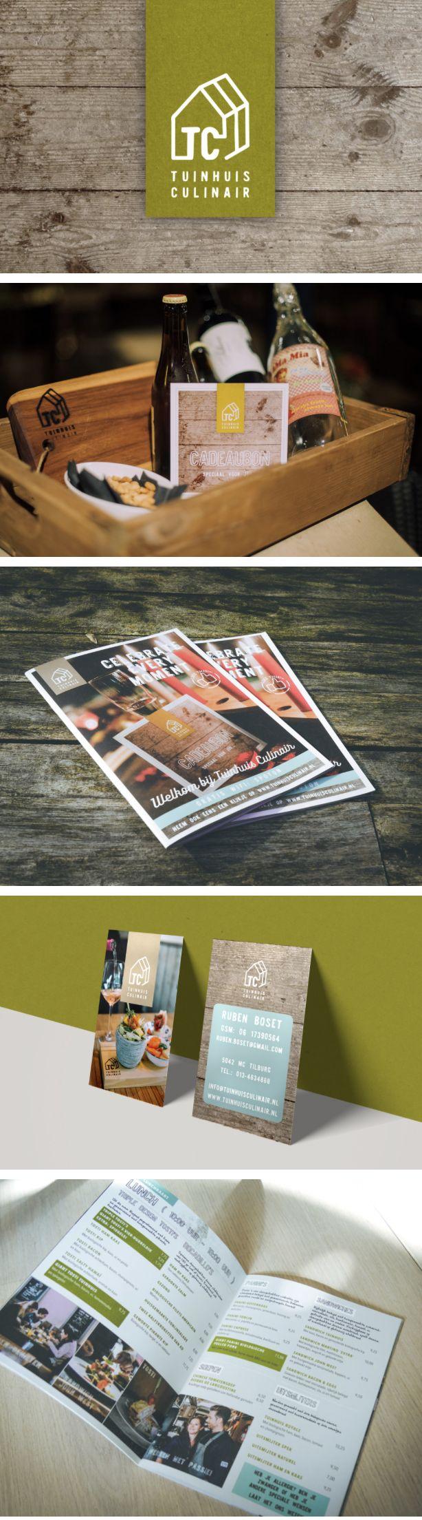 Nieuwe huisstijl: eigentijds, puur en stoer. Tevens vertaald naar onder andere de menukaart, posters en cadeaukaart - door Juli Ontwerpburo