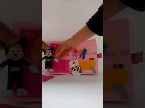 Тиха книжка Стаята на Мини Маус  / Quiet book  Mini Mouse Busy book Felt book Soft book - YouTube