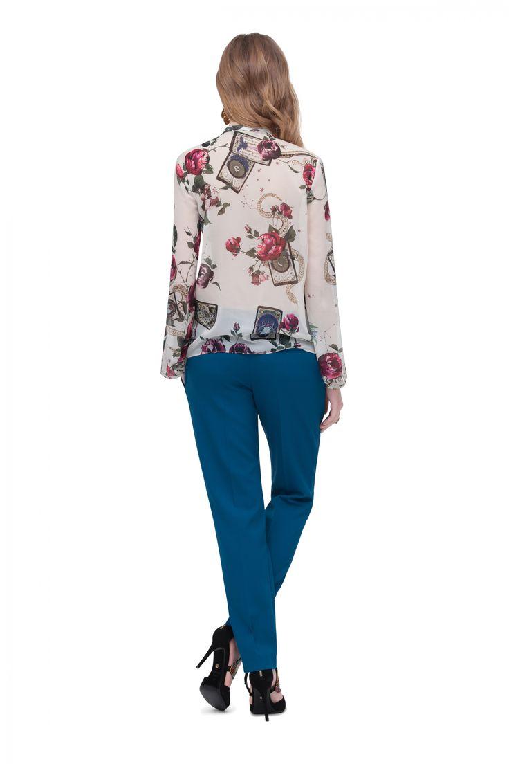 Pantalón Pitillo con Pinzas - Pantalones - Moda - Mujer | Roberto Cavalli Spain