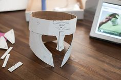 Kid Inspiration - All for the Boys - Crafteeo - DIY Cardboard Warrior Helmets