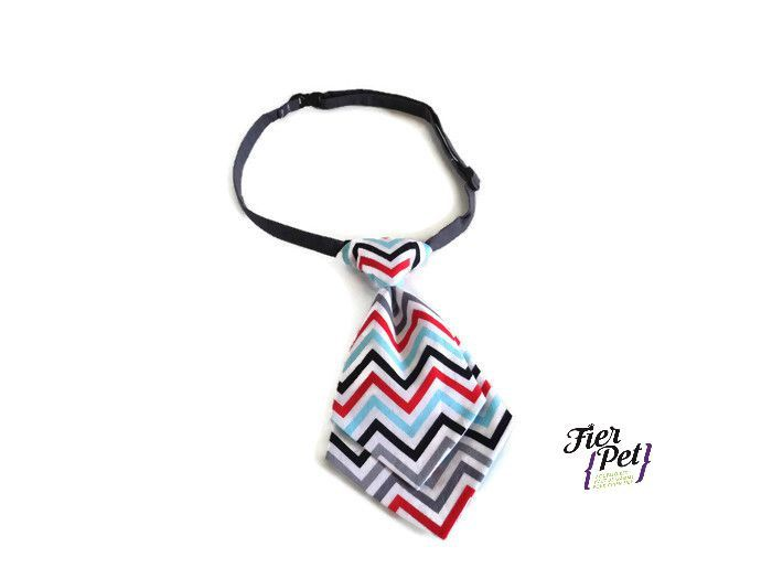 dog tie,neck tie,dog neck tie,dog collar,dog accessories,chevron, pet neck tie,attachable accessory, pet collar by Fierpet on Etsy