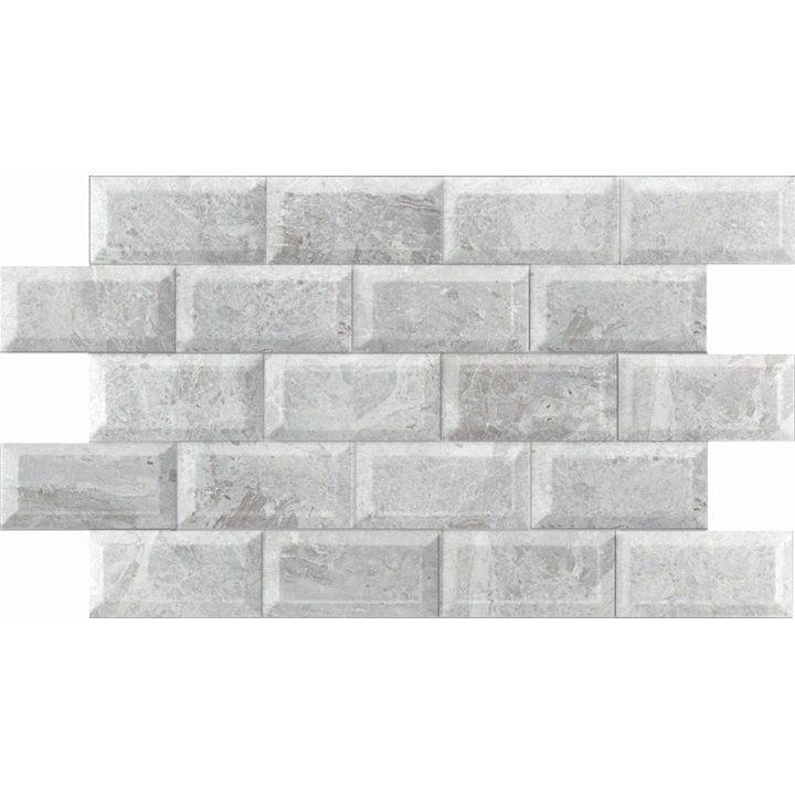 white and grey marble effect wall tiles