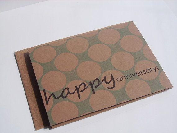 Custom Greeting Card - Birthday Card, Anniversary Card, Congratulations Graduation New Job, Kraft Modern Patterns Blue Kraft Stripes Dots on Etsy, $4.00