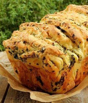 БЛОГ ПОЛЕЗНОСТЕЙ: Рецепт отрывного хлеба - вкуснейший хлеб с сыром и зеленью