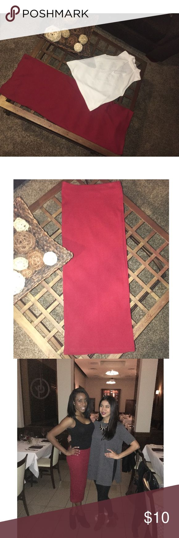 High Waist Zara Pencil/Tube Skirt High-waisted or wear at your hips for length. Form-fitting. Burnt Orange/Ted color tone. You can style with just about any top, statement jewelry and shoes! Zara Skirts Pencil