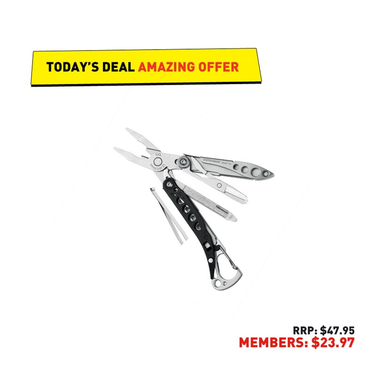 #50deals Day 31 - 11th June. Release your inner MacGyver and be like a scout and always be prepared with the Leatherman deal of the day.