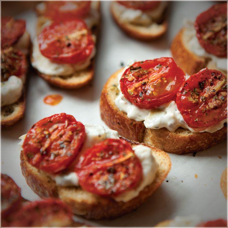 Epicure's Hot Artichoke Dip and Oven-roasted Tomato Bruschetta