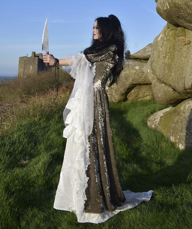 Bound Widow Gown - steampunk bloodborne cosplay cainhurst goth  medieval tudorgoth gown by Moonmaiden Gothic Clothing UK