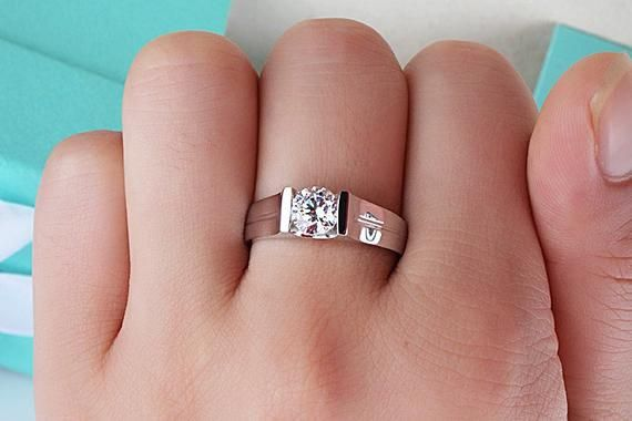 0 8 Ct Cathedral Set Rings Wide Band Unisex Ring Men Solitaire Wedding Rings Unisex Engagement Ring Wedding Rings Solitaire Rings For Men Man Made Diamonds