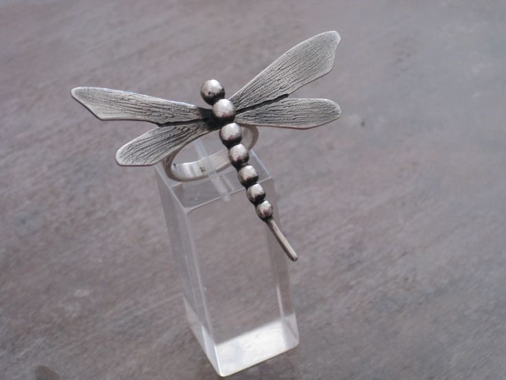 SILVER RING-DRAGONFLY