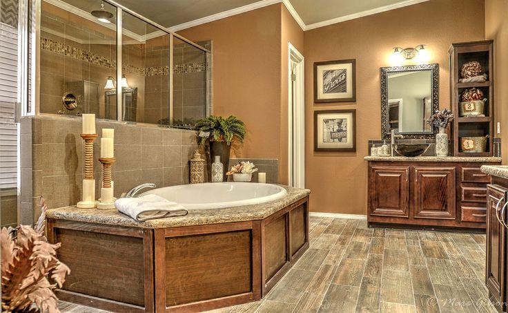 3098 best new master bath images on pinterest bathroom for Mobile home master bathroom remodel