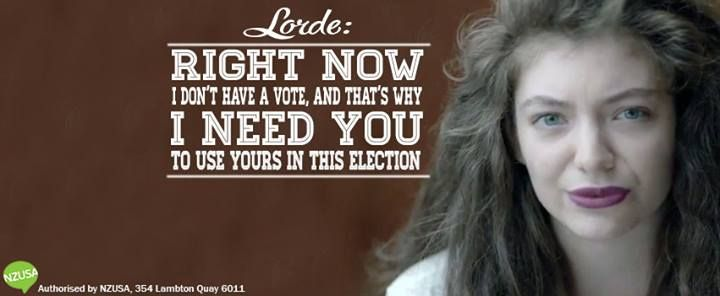 Right now I don't have a vote, and that's why I need you to use yours in this election