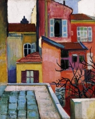 Róbert Berény (Hungary 1887-1953)Houses in Monaco (1906)oil on canvas