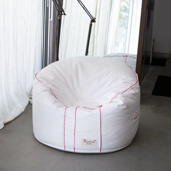 Round Beanbag White Chairreading By Pozitivebeanbags