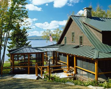Best Green Metal Roof With Deep Weathered Wood Grey Color 400 x 300