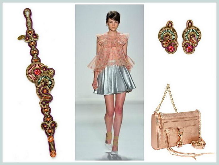 Inject your outfit with a shot of the metallic trend... #DoriCsengeri #metallic #trend #fashion #styling #accessories