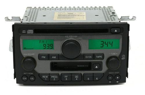 2003-2005 Honda Pilot AM FM Radio CD Cassette Player PN 39100-S9V-A100 Face 1TV3