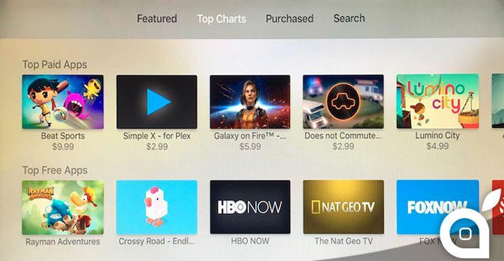 Apple introduce le classifiche allinterno dellApp Store della nuova Apple TV