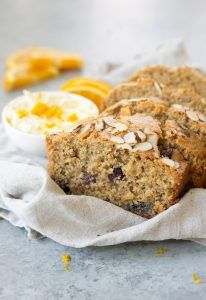 You've gotta make this Orange Blueberry Breakfast Bread! It's so delicious, lightly sweetened and easily gluten-free. Served with orange mascarpone frosting. | www.delishknowledge.com