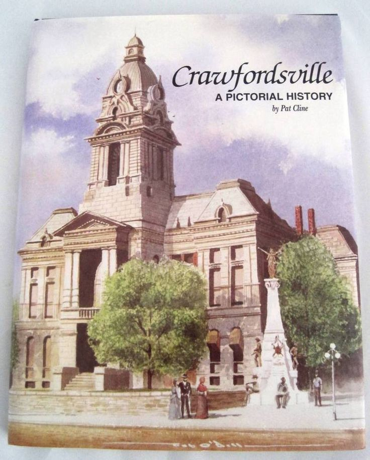 Crawfordsville A Pictorial History Indiana Wabash College Limited 1st Ed Book.  Available at BooksBySam.com!