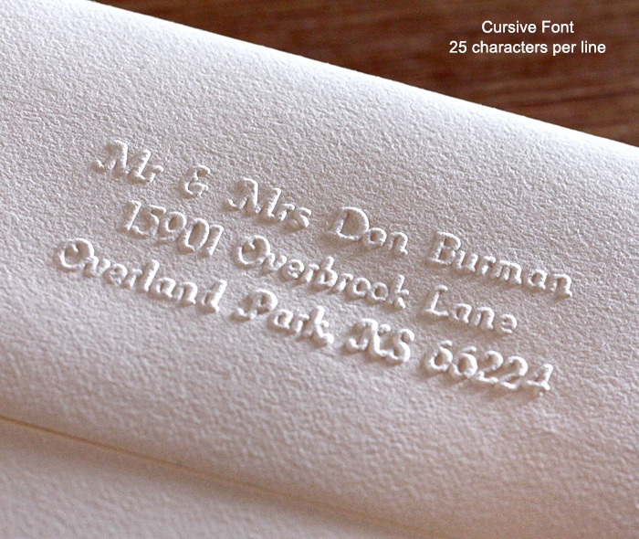 Return Address, Hand Embosser, Wedding Invitations By Invitations By Ajalon