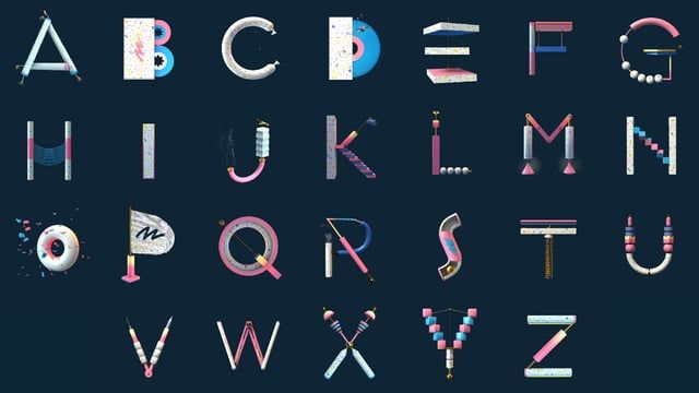 Animated Alphabet inspired by the Memphis Group for Martin Solveig. Musique : Martin Solveig.