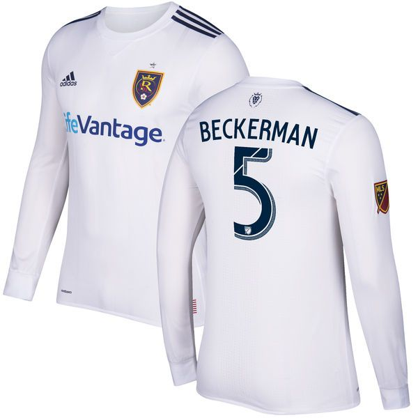 Kyle Beckerman Real Salt Lake adidas 2017 Secondary Authentic Long Sleeve Jersey - White - $179.99
