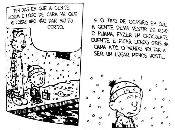 "deposito-de-tirinhas: ""  Calvin e Hobbes por Bill Watterson """
