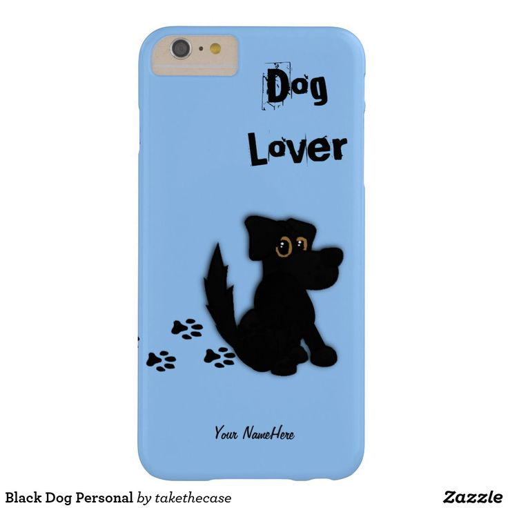Black Dog Personal Barely There iPhone 6 Plus Case #smartphone #shopping #animal #cellphone