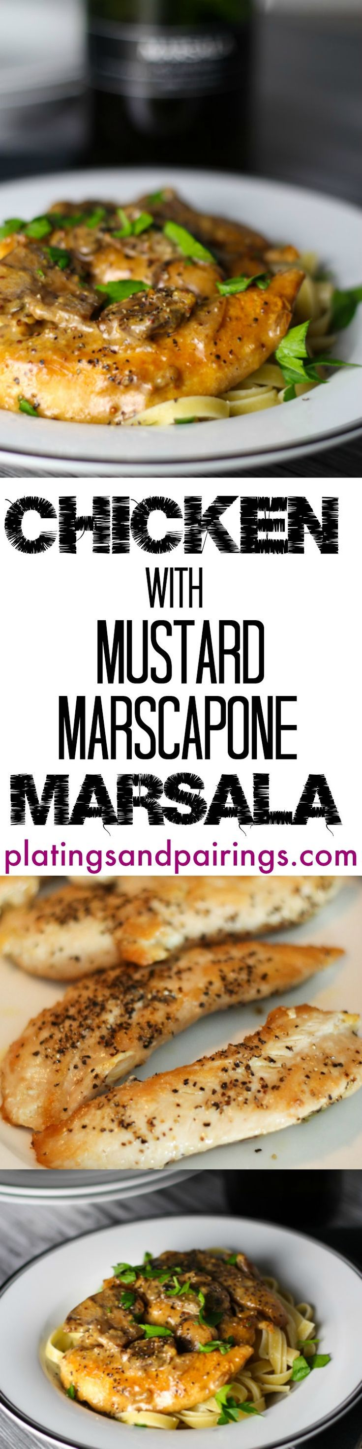 Very good, very easy chicken Marsala. The addition of mascarpone and Dijon mustard works well. Could use far less butter - a lot of grease in the bottom of the pan.  Will make again.  ST