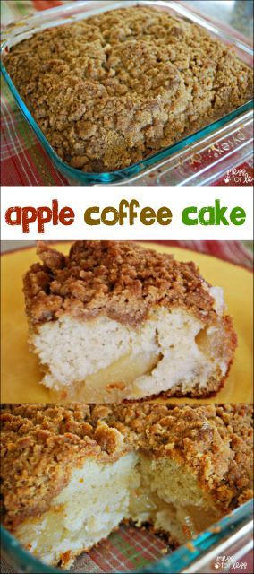 This apple cake recipe is a great twist on traditional coffee cake. I used it for a potluck breakfast, but it makes an indulgent dessert served with ice cream.