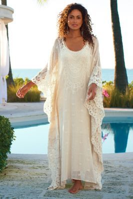 Martinique Caftan & Slip - Caftan Dresses, Long Caftan Gown | Soft Surroundings