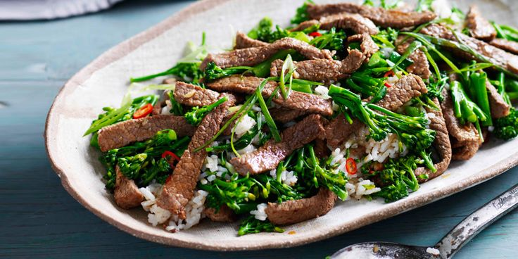 Beef Broccolini Fried Rice