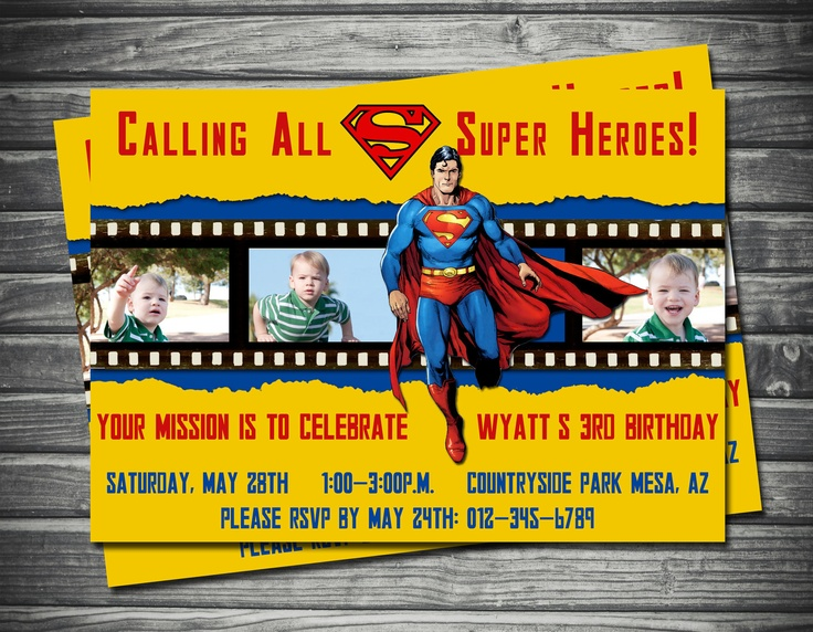 68 best Superman invitations images – Superman Birthday Party Invitations