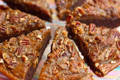 Brownie Pumpkin Pie with a Crunchy Pecan Topping by Oh She Glows #Vegan #pumpkin #recipe
