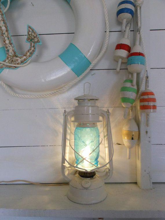 Vintage. Nautical Lantern Lamp. Nautical Decor. by searchnrescue2, $56.00