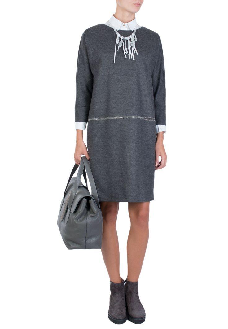 Серое Платье FABIANA FILIPPI - купить по цене 43900 рублей - Elyts.ru