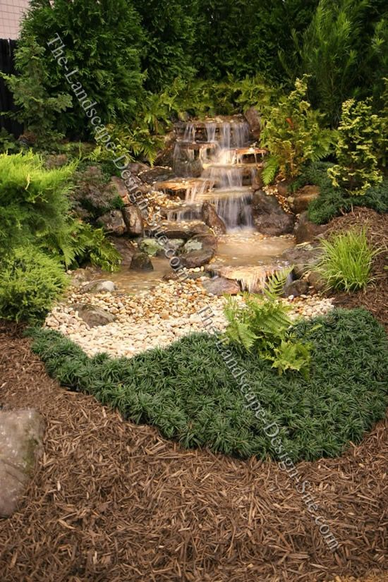 17 best images about landscape ideas on pinterest for Design of pondless waterfalls