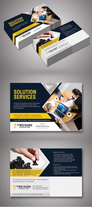 6.25 x 9 Direct Mail postcard for technology solutions company by Pragya Sharma