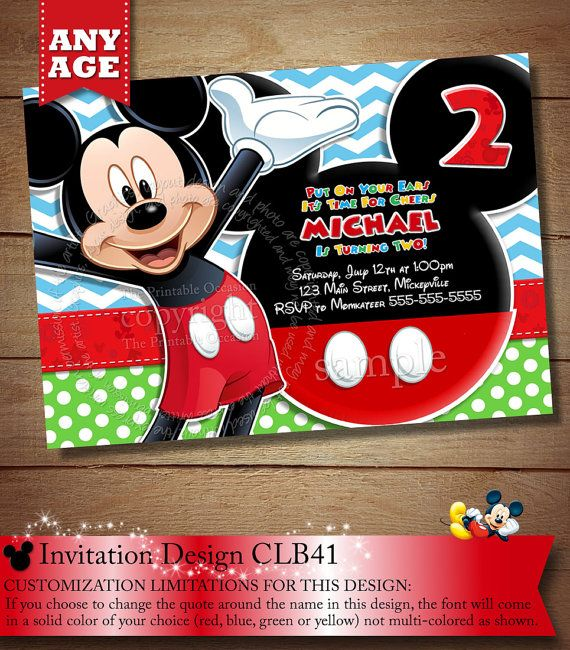 the 25+ best mickey invitations ideas on pinterest | mickey mouse, Birthday invitations