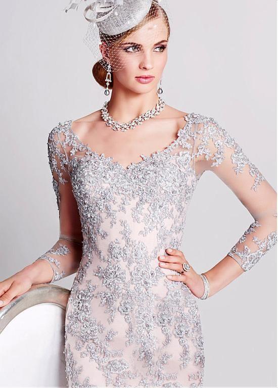 Покупать льготные Прекрасные Тюль V-образный вырез декольте до колен Оболочки мама невесты платья с бисером кружева аппликациями на Magbridal.com