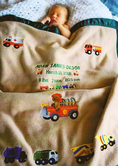 Best embroidered baby blankets images on pinterest