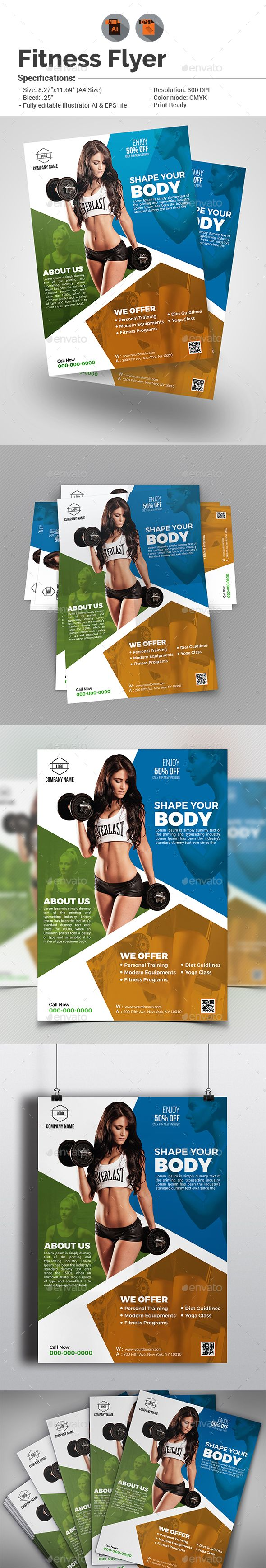 #Fitness Flyer - Sports Events Download here: https://graphicriver.net/item/fitness-flyer/15942191?ref=alena994