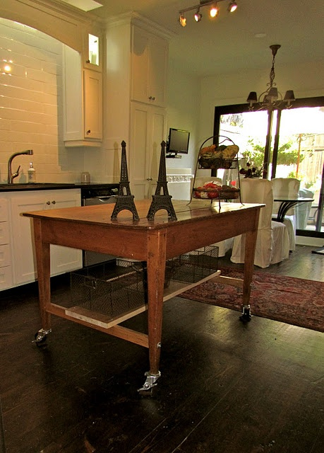15 best images about kitchen table island ideas on pinterest craft desk natural and furniture - Kitchen island table ideas ...