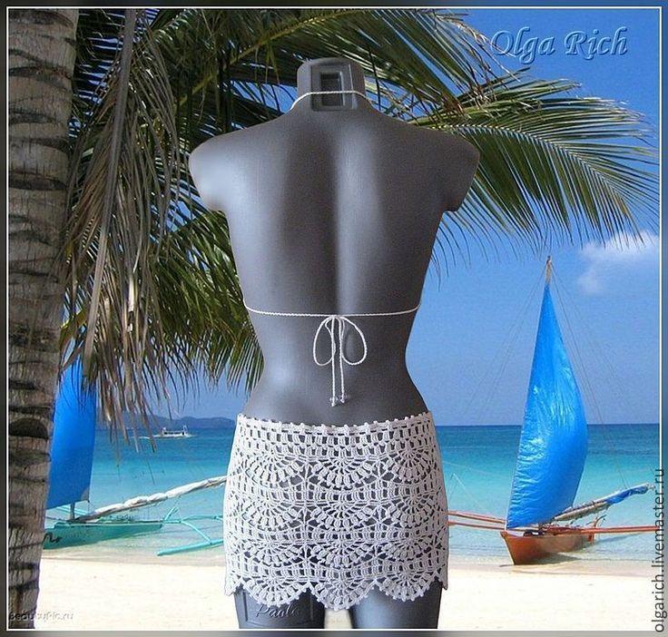 Buy Caribbean beach skirt-top in white or black color - white