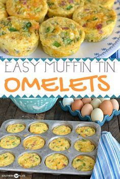 Muffin Tin Omelets ~ Make them today for breakfast all week!  Low Carb