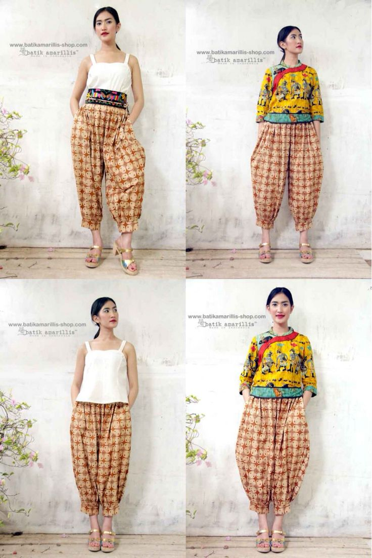 batik amarillis's popon pants www.batikamarillis-shop.com This High waisted band baggy pants with side zipper and rubber band is cool enough to wear at any occasions and suitable to pair with any Batik Amarillis's outers and tops! Also this is what cool girls in the 80ies wear but this one with modern twist!