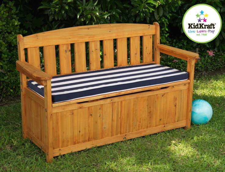 Our Outdoor Storage Bench With Cushion By Kidkraft Provides Families With A  Place To Store Tools, Yard Supplies, Sports Equipment And Outdoor Toys.