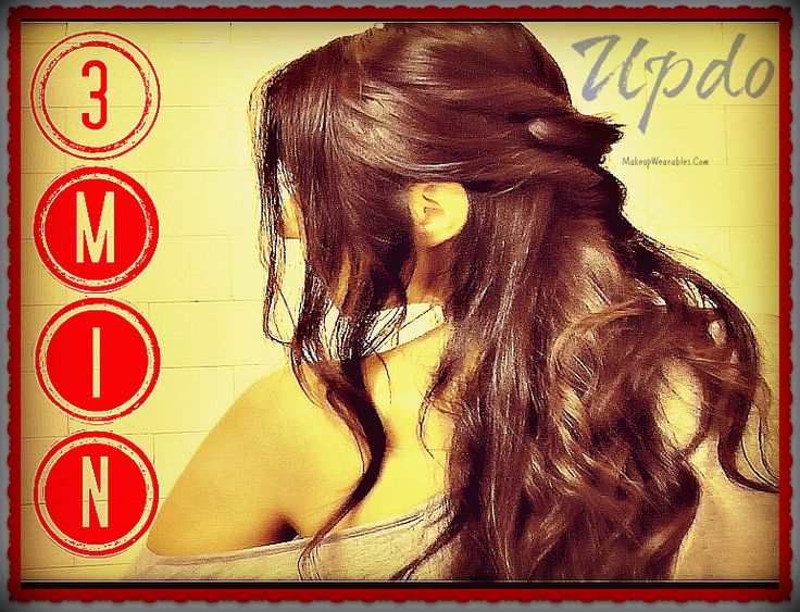 Fast Easy Hairstyles Hair Tutorial: Half-Up Updo for Everyday, Formal, Informal, Wedding, Prom, Homecoming. Voluminous Curls for Long Hair