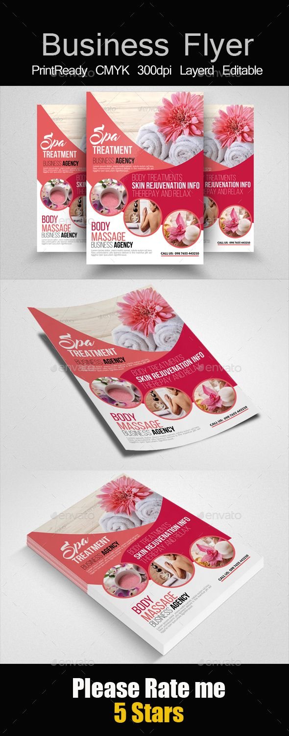 Beauty & Spa Flyer Templates - Corporate Flyer Template PSD. Download here: http://graphicriver.net/item/beauty-spa-flyer-templates/16574693?s_rank=766&ref=yinkira